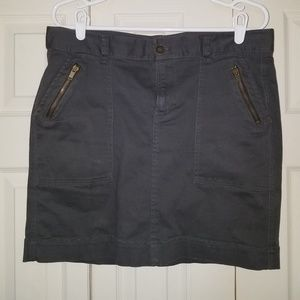 Slate grey skirt with pockets